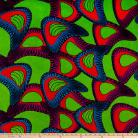 Shawn Pahwa African Print Mpendulo Green/Blue