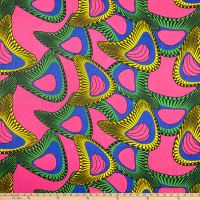 Shawn Pahwa African Print Mpendulo Pink/Blue