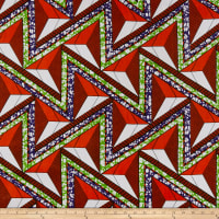 Shawn Pahwa African Print Azisa Orange/Purple