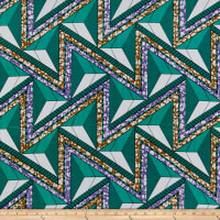 Shawn Pahwa African Print Azisa Teal/Lilac