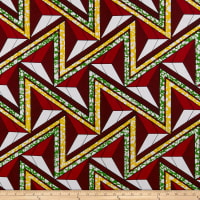 Shawn Pahwa African Print Azisa Red/Green