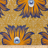 Shawn Pahwa African Print Meshindi Brown/Orange