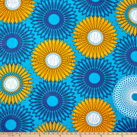 Shawn Pahwa African Print Ethwasa Light Blue/Blue