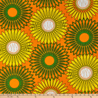 Shawn Pahwa African Print Ethwasa Orange/Green