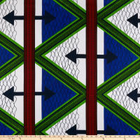 Shawn Pahwa African Print Qiniso Blue/White