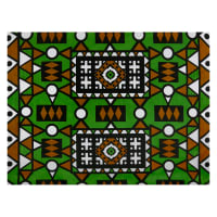 Shawn Pahwa African Print Lindelani Green/Brown