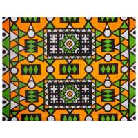 Shawn Pahwa African Print Lindelani Orange/Green