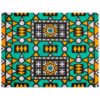 Shawn Pahwa African Print Lindelani Teal/Orange