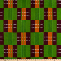 Shawn Pahwa African Print Jabu Green/Orange