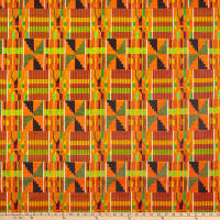 Shawn Pahwa African Print Sibusiso Orange/Green