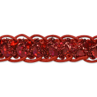 Thea Sequin Cord Braid Trim Red