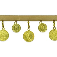 Lizbeth Coin Trim Gold