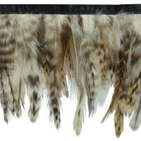 Feather Fringe Trim Brown Multi