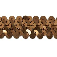 "2 Row 7/8"" Metallic Stretch Sequin Trim Brown"