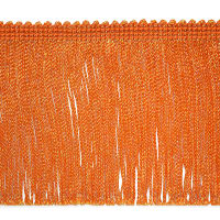 "4"" Metallic Chainette Fringe Trim Orange"