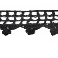 Doris Crochet Trim Black
