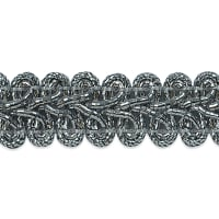 Alice Classic Woven Braid Trim Metallic Silver