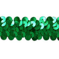 "2 Row 7/8"" Metallic Stretch Sequin Trim Green"