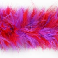Marabou Feather Boa Trim Red / Purple
