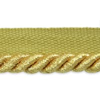 "Gloria 1/4"" Metallic Twisted Lip Cord Trim Metallic Gold"