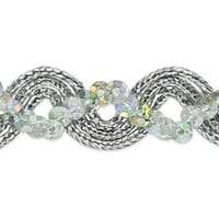 Karmen Sequin Metallic Braid Trim Silver