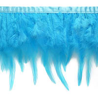 Julie Feather Fringe Trim Turquoise