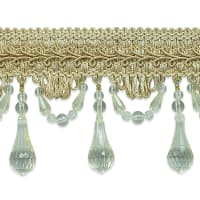 Juliet Beaded Trim Beige Multi