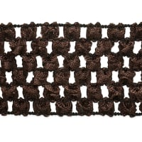"1 3/4"" Crochet Stretch Trim Chocolate"