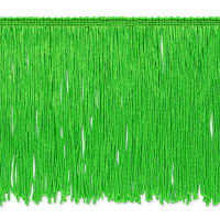 "6"" Stretch Chainette Fringe Trim Lime"
