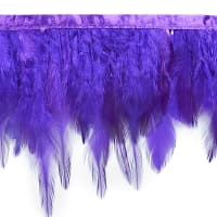 Julie Feather Fringe Trim Purple