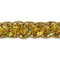 Thea Sequin Braid Cord Trim Gold
