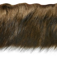 Faux Fox Fur Trim Brown