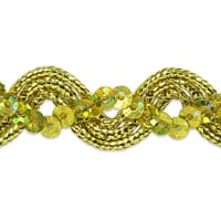 Karmen Sequin Metallic Braid Trim Gold