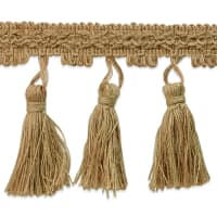 Natural Jute Tassel Trim Natural