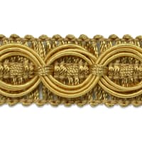 Collette Woven Braid Circle Trim Gold