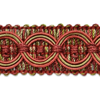 Collette Woven Braid Circle Trim Cranberry/ Sage
