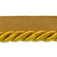 "Gloria 1/4"" Metallic Twisted Lip Cord Trim Antique Gold"
