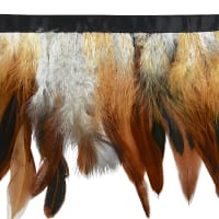 Natural Feather Fringe Trim  Brown