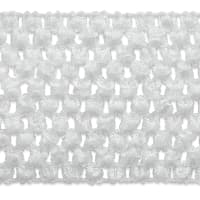 "2 3/4"" Crochet Stretch Trim White"