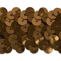 "3 Row 1 1/4"" Metallic Stretch Sequin Trim Brown"