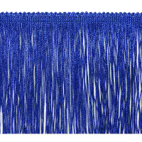"6"" Metallic Chainette Fringe Trim Royal Blue"