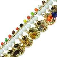 Phaedra Shell Beaded Chain Trim Multi Colors