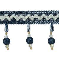 Martha Crochet Bead Trim Blue Multi