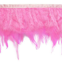 Julie Feather Fringe Trim Pink