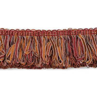 Allie Loop Fiber Fringe Trim Cinnamon Multi