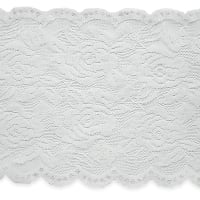 "Ally 5 1/2"" Stretchable Polyester Chantilly Lace Trim Ivory"