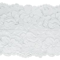 "Annie 6"" Stretchable Polyester Chantilly Lace Trim White"