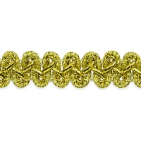 "Emily 1/2"" Metallic Braid Trim Metallic Gold"