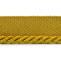 "Saturn 1/8"" Metallic Twisted Lip Cord Trim Antique Gold"