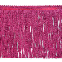 "6"" Metallic Chainette Fringe Trim Fuchsia"